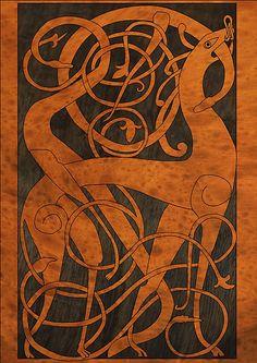histori, entrelac, heritag, celtic, art, dragon, inspir, denmark, design