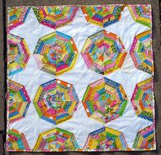spiderweb baby quilt by blempgorf, via Flickr