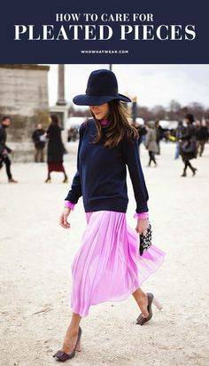How to save your pleated pieces