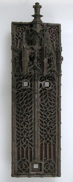 Door Knocker Plate  Date: 15th century Culture: French Medium: Iron, textile