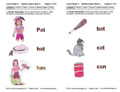 Identify Short A: Lesson 7, Book 11 (Newitt Decoding Series)