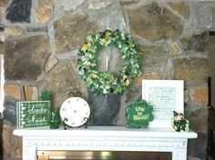 My St. Patrick's Day mantel