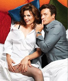 Stana Katic and Nathan Fillion {Castle tv series actors}