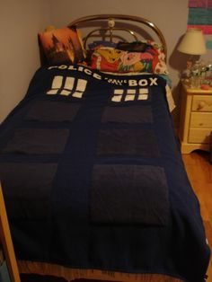 crafty_tardis: TARDIS Blanket diy doctor who