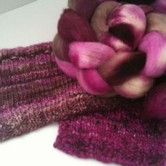 Sara's Texture Crafts 100g Hand Dyed Top Collection - RASPBERRY CHOCOLATE
