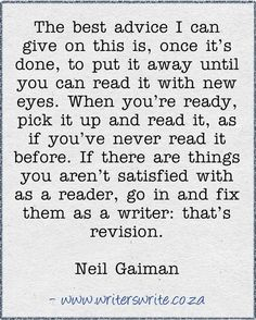 advice from Neil Gaiman