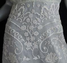 Hand-embroidered cotton dress, 1930s