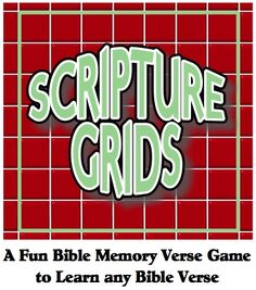 """Here's a fun Bible memory verse activity to help your kids learn any Bible verse.  It's called """"Scripture Grids."""" http://scripturelady.com/scripture-grids-a-super-bible-school-activity-for-elementary-kids/"""