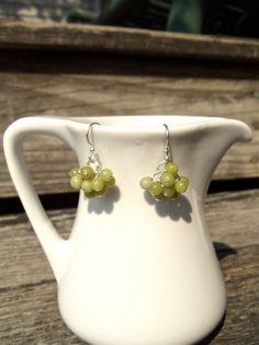 Green Serpentine Earrings by KatieBugCreations4U on Etsy, $12.00