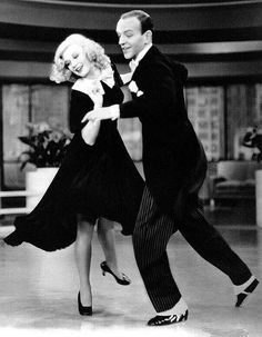 Fred Astaire and Ginger Rogers in Swing time