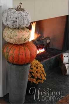 Fall Decorating with Nature and old rusty junk - Unskinny Boppy