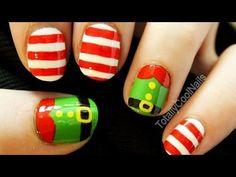 Elf Nail Art - Christmas Nail Art