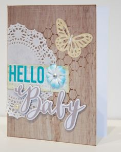 Butterfly - Hello Baby card made with the Silhouette from Scrapbook Update