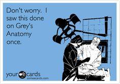 Haha!!  I play a nurse on tv lol