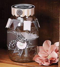 Ball Jar with Chalkboard Label | Great DIY gift!