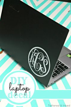 Tattered and Inked: DIY Laptop Decal {My First Silhouette Project!!}
