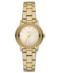 A classic gold watch is the perfect accessory!