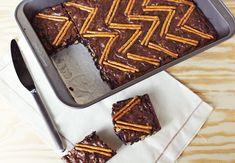 Peanut butter and pretzel brownie