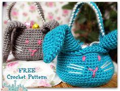 crochet easter patterns | Crochet How To: Free Crochet Easter Bunny Basket Pattern from Jo-Ann ...