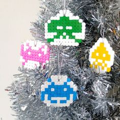 Make a Set of Space Invaders Christmas Ornaments