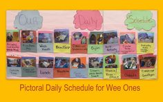 photo of: Visual Daily Schedule for toddlers using photographs