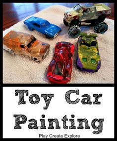 Play Create Explore: Toy Car Painting