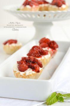 Roasted Strawberry Cheesecake Bites