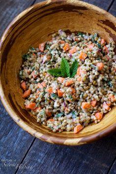 sorghum  lentil salad