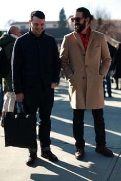 Our guys: Michael Williams of A Continuous Lean & Aaron Levine, VP of Men's Design at Pitti Uomo. #menswear #pittiuomo
