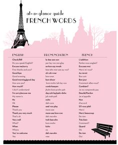at a glance guide to french words and phrases by joliejolie design