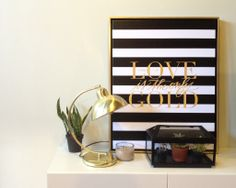 New! Love is the Only Gold Canvas