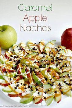 Caramel apple nachos - Dessert for Halloween?
