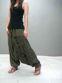 Ohm Harem pant (green) on Etsy, $39.00