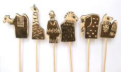 Wooden Puppets, Stick Puppets, Puppet Theater with Mr. Punch and Animals.