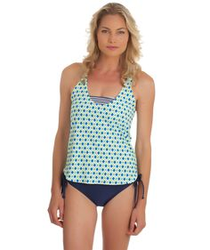 Splendid Pop Geo Tankini and Sunblock Solid Tunnel Bottom