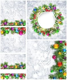Frosted #Christmas backgrounds #vector