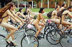 the Portland Naked bike race