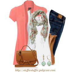 """""""Spring Mint & Coral"""" by steffiestaffie on Polyvore"""