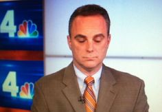Is Scott Stanford taking a nap before his next segment on NBC 4?