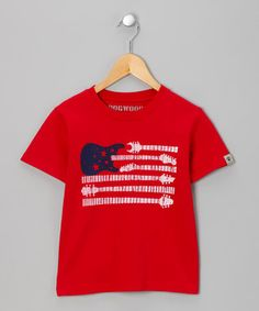 #Red #Guitar #Flag Tee on #zulily