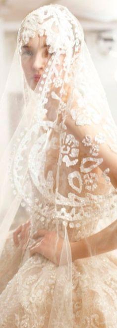Elie Saab - ♔LadyLuxury♔ lace wedding gowns, wedding dressses, gold weddings, wedding veils, wedding ideas, ellie saab, bride, eli saab, elie saab