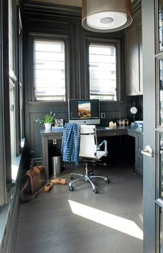 Masculine gray office