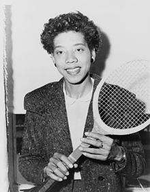 Althea Gibson was one of the greatest tennis players of all time. In addition, she also broke ceilings as she was the first African American man or woman to win at Wimbledon and also was the first to complete in the US Nationals. Her career is inspiring.  More on her life here: http://en.wikipedia.org/wiki/Althea_Gibson