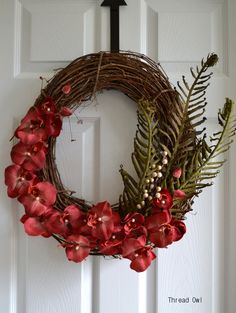 Ready For Spring Tropical Orchid Wreath by threadowl on Etsy, $49.99