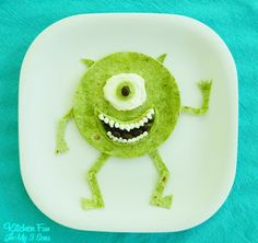 Kitchen Fun With My 3 Sons: Monsters Inc. Mike Wazowski Quesadilla Dinner