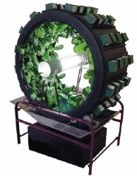 The Volksgarden. Rotary indoor hydroponic garden system grows 80 plants in your closet