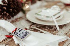 Photo napkin rings can make good gift tags too