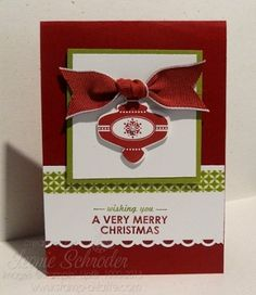 Stampin' Up! Ornament Occasions Stampin' Up! Wishing You # Christmas #stampinup #christmasbundle