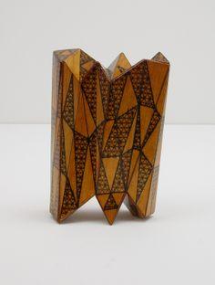 Tom Lauerman, Folding Screen, wood, ink, shellac, 2012
