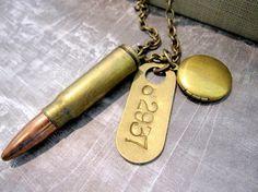 Steampunk Jewelry bite the bullet 3 locket  by DaysLongGone, $54.00